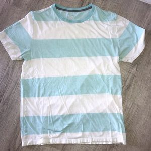 White and blue striped T-shirt